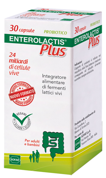 ENTEROLACTIS PLUS 30 CAPSULE - Farmastar.it
