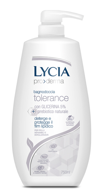 LYCIA PRODERMA BAGNODOCCIA TOLERANCE 750 ML - FarmaHub.it