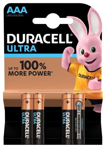 DURACELL ULTRA AAA B4 MN2400 RFT 10 PEZZI - Farmaseller