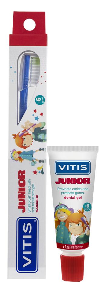 VITIS JUNIOR SPAZZOLINO + GEL 15 ML - Farmaseller