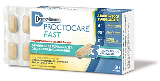 DERMOVITAMINA PROCTOCARE FAST 30 COMPRESSE - Farmaseller