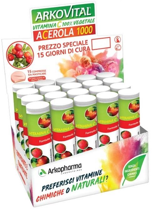 ARKOVITAL ACEROLA 1000 15 COMPRESSE - farmaciafalquigolfoparadiso.it