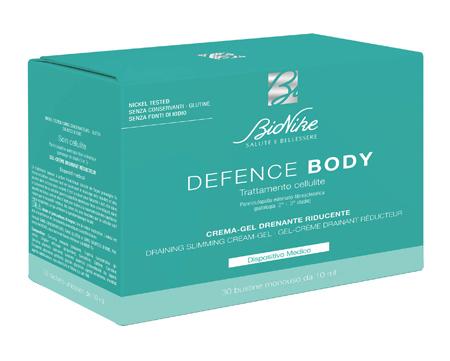 DEFENCE BODY TRATTAMENTO CELLULITE CREMA GEL DRENANTE RIDUCENTE 30 BUSTINE DA 10 ML - Farmaseller