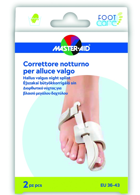MASTER-AID FOOT CARE CORRETTORE NOTTE ALLUCE VALGO EU 36-43 2 PEZZI - Farmaseller