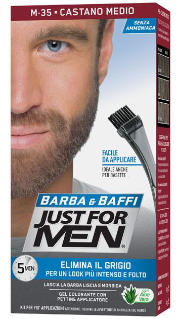 JUST FOR MEN BARBA & BAFFI M35 CASTANO MEDIO 51 G - Farmaseller