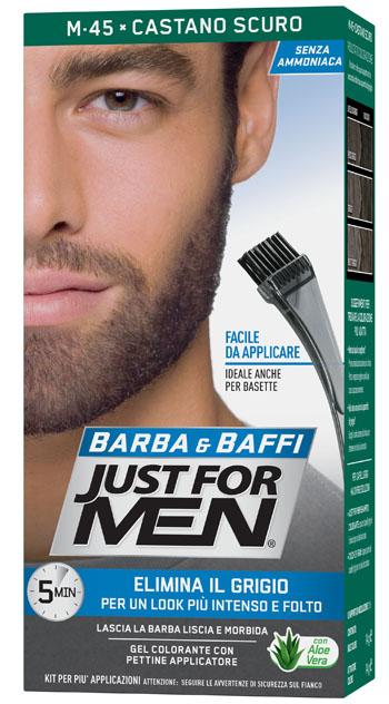 JUST FOR MEN BARBA & BAFFI M45 CASTANO SCURO 51 G - Farmaseller