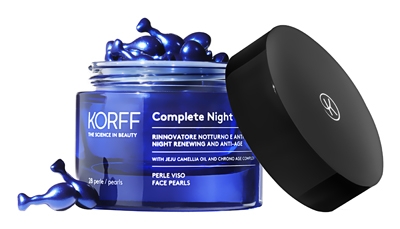 COMPLETE NIGHT RENEW VISO 28 PERLE + KORFF SIERO COMPLETE NIGHT REVIEW 30 ML - Farmacia Bartoli