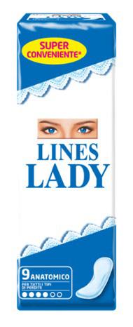 LINES LADY ASSORBENTE ANATOMICO 9 PEZZI - Farmacia Centrale Dr. Monteleone Adriano