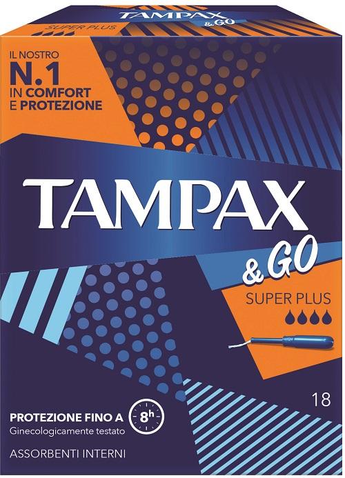 TAMPAX &GO ASSORBENTE INTERNO SUPER PLUS 18 PEZZI - Farmafamily.it