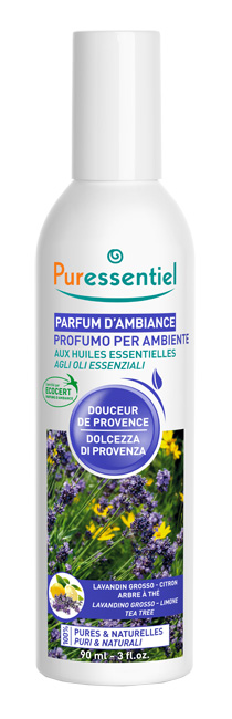 PURESSENTIEL PROFUMO AMBIENTE DOLCEZZA PROVENZA ECOCERT 90 ML - Farmacia 33