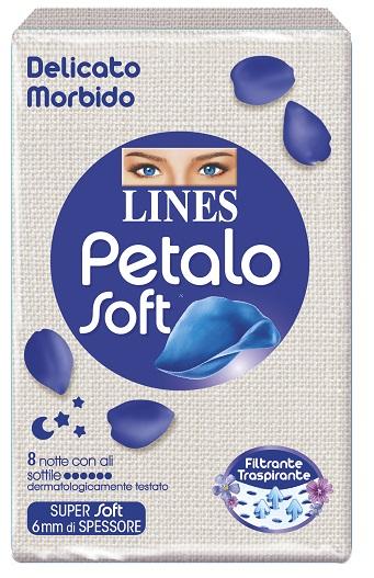 LINES PETALO SOFT NOTTE 8 PEZZI - farmaciafalquigolfoparadiso.it