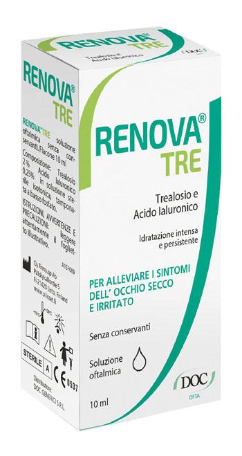 RENOVA TRE COLLIRIO A BASE DI TREALOSIO E ACIDO IALURONICO 10 ML SENZA CONSERVANTI - Farmacia Puddu Baire S.r.l.