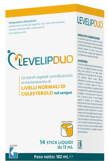 LEVELIPDUO 14 STICK LIQUIDI - farmaciafalquigolfoparadiso.it
