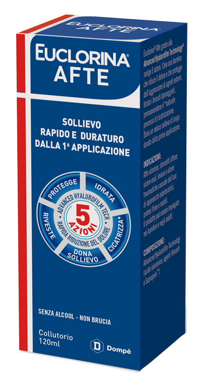 EUCLORINA AFTE COLLUTORIO 120 ML - latuafarmaciaonline.it