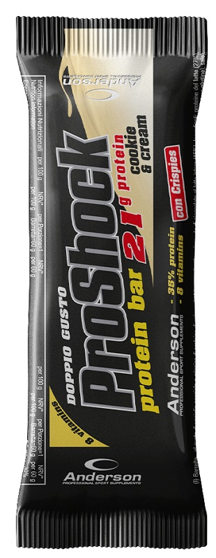 PROSHOCK PROTEIN BAR COOKIE & CREAM CON CRISPIES 60 G - Farmacia Massaro