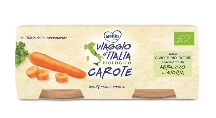 VIAGGIO ITALIA OMOGENEIZZATO BIO CAROTE 2 X 80 G - Farmapage.it