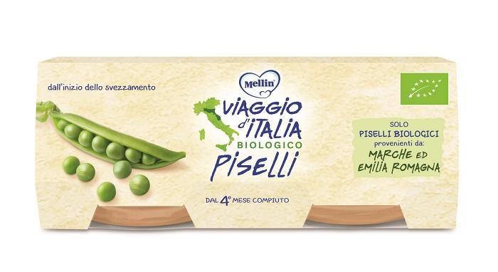 VIAGGIO ITALIA OMOGENEIZZATO BIO PISELLI 2 X 80 G - Farmapage.it