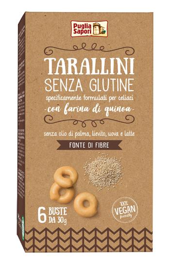 TARALLINI SENZA GLUTINE CON FARINA DI QUINOA 180 G - Farmaseller