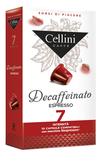 CELLINI FARMA DECAFFEINATO INTENSITA' 7 10 CAPSULE CAFFE' 50 G - Farmacia 33