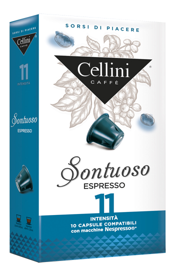 CELLINI FARMA SONTUOOSO INTENSITA' 11 10 CAPSULE CAFFE' 50 G - Farmacia 33