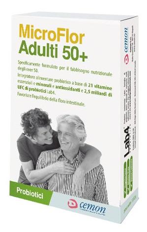 MICROFLOR ADULTI 50+ 30 CAPSULE - Farmaseller