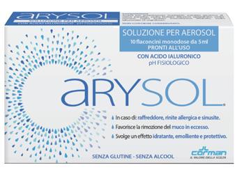 ARYSOL SOLUZIONE ADULTI PER AEROSOL CON ACIDO IALURONICO PH FISIOLOGICO 10 FLACONCINI MONODOSE DA 5 ML - Nowfarma.it