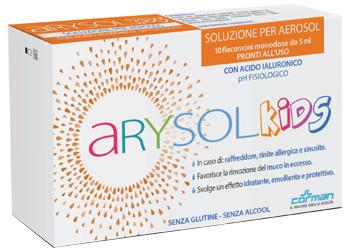 ARYSOL KIDS SOLUZIONE BAMBINI PER AEROSOL CON ACIDO IALURONICO PH FISIOLOGICO 10 FLACONCINI MONODOSE DA 5 ML - Speedyfarma.it