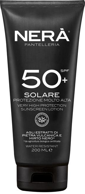 NERA' CREMA SOLARE SPF50+ PROTEZIONE MOLTO ALTA 200 ML - Farmabros.it
