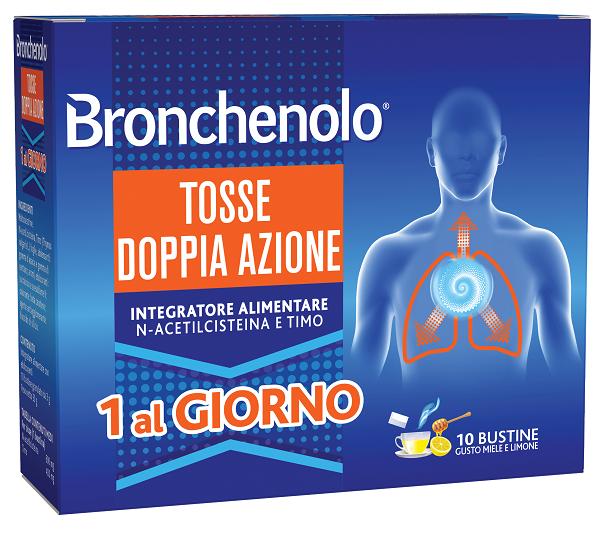 BRONCHENOLO TOSSE DOPPIA AZIONE 10 BUSTINE - Farmafamily.it