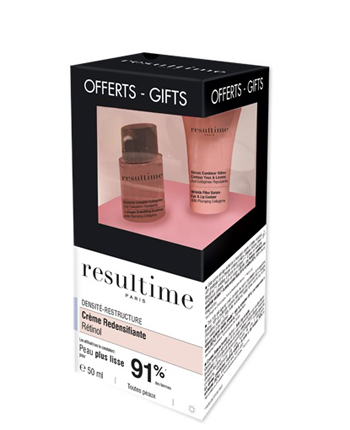 RESULTIME RETINOL KIT 2020 CREME LISSANTE REDENSIFIANTE RETINOLO JOUR 50 ML + SERUM FILLER RIDES CONTOURS YEUX/LEVRES 3 ML + ESSENCE LISSANTE COLLAGENE 10 ML -