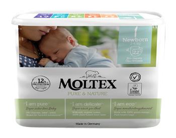 PANNOLINI MOLTEX PURE & NATURE NEW BORN 2-4 KG TAGLIA 1 22 PEZZI - Farmaseller