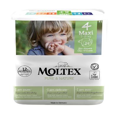 PANNOLINI MOLTEX PURE & NATURE MAXI 7-18 KG TAGLIA 4 29 PEZZI - Farmacia Centrale Dr. Monteleone Adriano