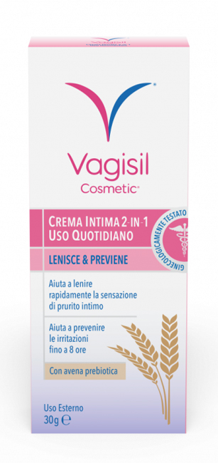 VAGISIL CREMA INTIMA 2 IN 1 USO QUOTIDIANO 30 G - Farmabros.it