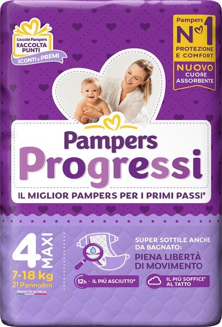 PAMPERS PROGRESSI MAXI PANNOLINO 4 7-18KG 22 PEZZI - farmaciafalquigolfoparadiso.it