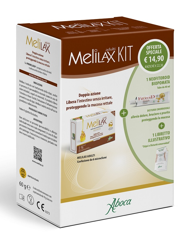 MELILAX ADULTI KIT COMPOSTO DA MELILAX ADULTI + NEOFITOROID POMATA - Farmacianuova.eu