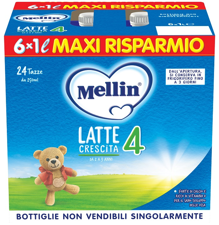 MELLIN 4 LATTE 6X1000 ML - Farmacia Puddu Baire S.r.l.