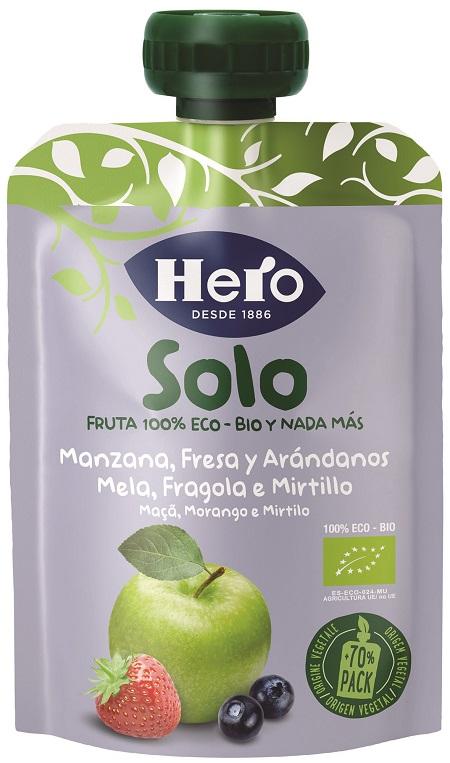 HERO BABY SOLO POUCH MELA FRAGOLA MIRTILLO 1X100 G - Zfarmacia