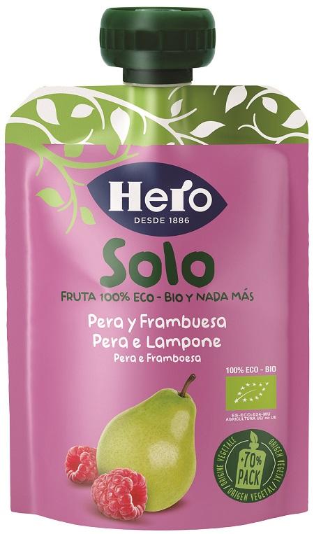 Hero Baby Solo Frutta Frullata 100% Bio Pera e Lampone 100g - Arcafarma.it