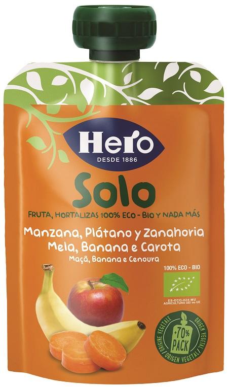 HERO BABY SOLO POUCH MELA BANANA CAROTA 1X100 G - FARMAPRIME