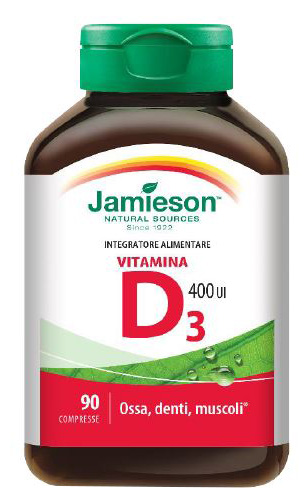 JAMIESON VITAMINA D 400 90 COMPRESSE - Spacefarma.it