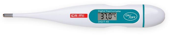 TERMOMETRO DIGITALE DIGIT 40 A 40 SECONDI CON PUNTA RIGIDA - Farmaseller