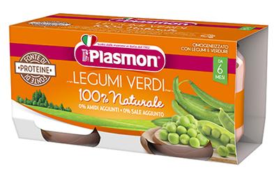 PLASMON OMOGENEIZZATO LEGUMI VERDI 2X80 G - Farmaseller