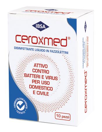 CEROXMED DISINFETTANTE LIQUIDO IN FAZZOLETTINI MONOUSO 10 PEZZI - farmaciadeglispeziali.it