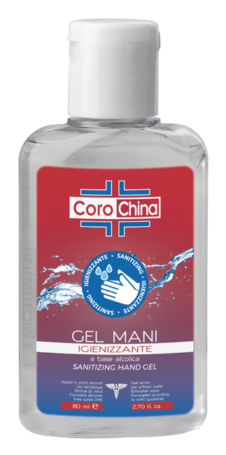 COROCHINA GEL IGIENIZZANTE MANI 80 ML - Farmaseller