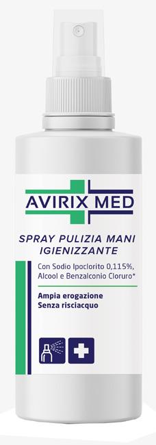 Avirix Med Spray Pulizia Mani Igienizzante 75 ml - FARMAPRIME