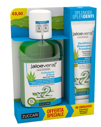 ALOEVERA2 COLLUTORIO 250 ML + DENTRIFICIO 100 ML OFFERTA SPECIALE - Farmastar.it