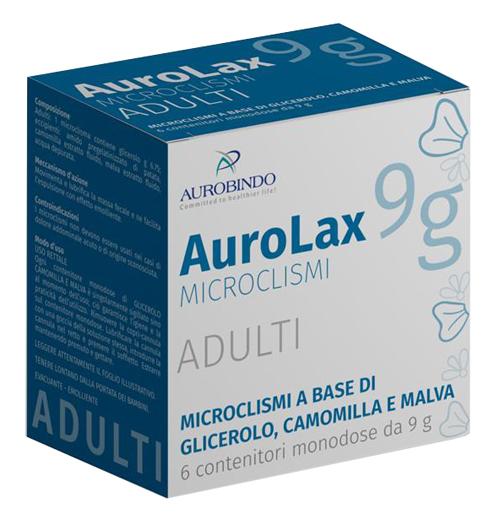 MICROCLISMI PER ADULTI AUROLAX 6 CONTENITORI 9 G - Farmafamily.it