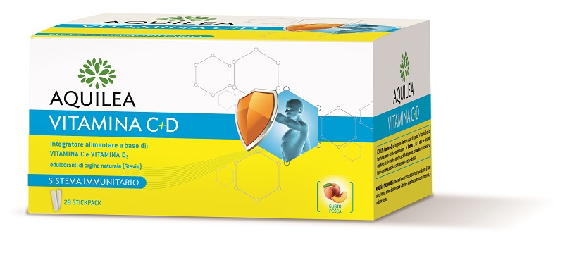 AQUILEA VITAMINA C+D 28 BUSTINE STICK - farmaventura.it