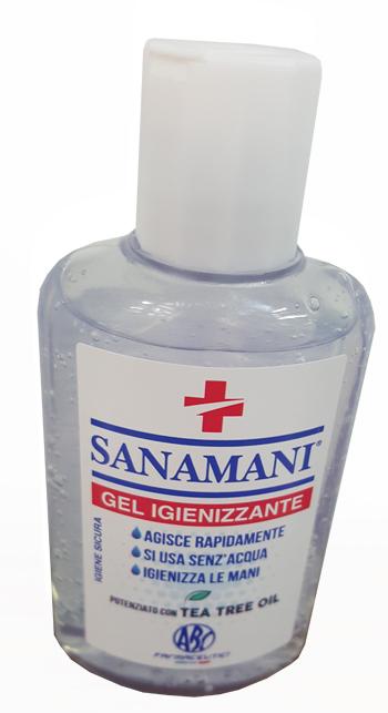 SANAMANI GEL IGIENIZZANTE 80 ML -  Farmacia Santa Chiara