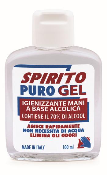 SPIRITO PURO GEL IGIENIZZANTE MANI 100 ML - Farmaunclick.it